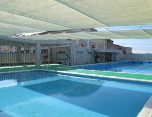 合計400㎡の大・小のプール ※完成前の見学写真