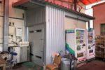 屋外に増設したプレハブ冷蔵庫