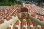 漆喰を塗り直した屋根瓦